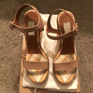 Valentino striped wedges